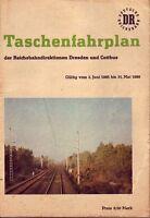 Fahrplan Reichsbahndirektionen Dresden u. Cottbus 1985 bis 1986