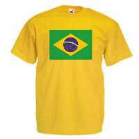 Brazil Flag Children's Kids T Shirt