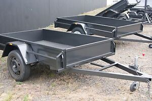 7x4 Box Trailer with 5Leaf Springs, Jockey Wheel & Jerry Can Holder