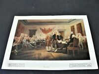 Trumbull, John, Signing the Declaration of Independence -1950's Repro. Print.