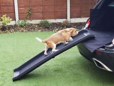 Rampa Per Cani Pet plastica pieghevole leggero Bi Piega Forte Da Viaggio Trasporto Auto Furgone