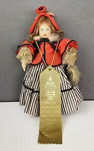 "Antique Early Cloth Felt Lenci Doll 10"" Vintage"