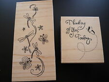 Great Impressions Rubber Stamps x 2, Dragonfly Wishes & Thinking of You Today