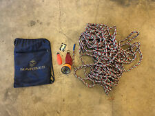 Tree Climbing Gear Lot 100ft Rope Throw Line Two Throw Bags Carrying Bag