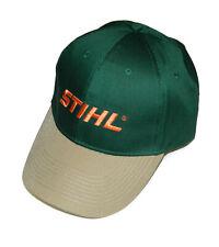 STIHL Two-Tone Twill Cap / Hat - Green & Tan