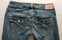True Religion Disco Joey Big T Womens Denim Blue Jeans Size 30 x 33 Flare Light