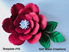 Paper Flower Template #16 Kit - Diy - Make Unlimited Flowers - Make All Sizes