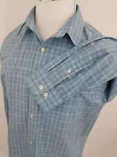 Banana Republic Non-Iron Straight Fit Plaid Long Sleeve Shirt Large 16 (34-35)