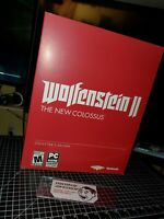 NEW WOLFENSTEIN 2 THE NEW COLOSSUS II COLLECTORS EDITION SEALED PC WINDOWS