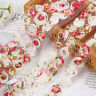 2Yards Rose Flower Lace Trim Ribbon Mesh Clothing Sewing Bridal Dress Craft DIY