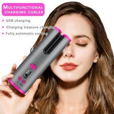 LCD Auto-rotating Cordless Hair Curler USB Hair Waver Curling Iron Not Hurt Hair