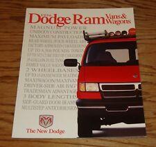 Original 1996 Dodge Ram Van & Wagon Sales Brochure 96