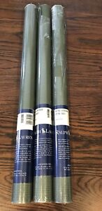 RALPH LAUREN Double Roll Wallpaper Green Pinstripe LCW016008 RARE HTF