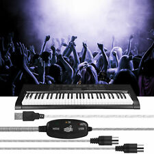 MIDI to USB Interface Cable Adapter for Keyboard Electric Drum Music