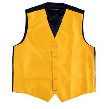 Men's Solid Gold Satin Tuxedo Vest Formals Weddings Proms Waistcoat