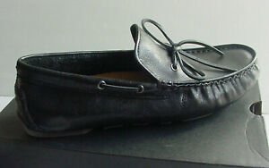 Ugg Australia Men's Loafer Black Everton Leather Moc Shoe 1017318 Sz 8.5 NIB