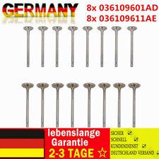 8x Einlassventil 8x Auslassventil Für SKODA VW Audi 1,4 TSI 1.6 FSI 036109611AE