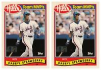 (2) 1989 Topps Hills Team MVP's Baseball #28 Darryl Strawberry Card Lot Mets