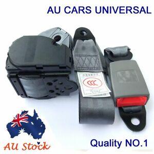 For Mitsubishi Grey Universal 3 Points Retractable Car Truck Seat Lap Sash Belt