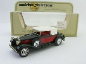 Matchbox Models Of Yesteryear Y-15 Packard Victoria Bright Red Seats Issue 25