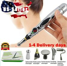 ❤️ MERIDIAN ACUPUNCTURE PEN WITH 5 MASSAGE HEAD ENERGY PAIN THERAPY RELIEF