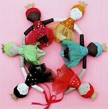 TINY DANCERS - A5 Jumbo Creative Card Sewing Craft PATTERN - Doll Fairy Princess