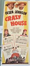 1943 CRAZY HOUSE Insert OLSEN & JOHNSON COUNT BASIE LEIGHTON NOBLE