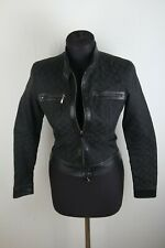 Rare Gucci Tom Ford 2000 Monogram Jacket with Leather sz 38 001634