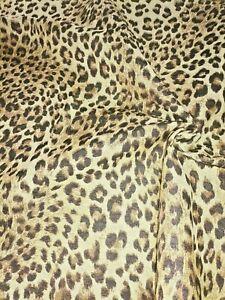 Dekostoff Polsterstoff Stoff Jacquard Gobelin Leopard Kissen Sofa Polster 0,5 m