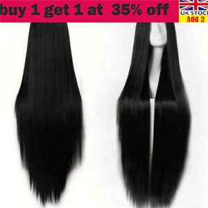 Women Fashion Wig Long Straight Hair Synthetic Heat Resistant Full Wigs Cosplajh