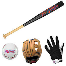 NEW MIDWEST JUNIOR BASEBALL BAT GLOVES BALL KIDS SET