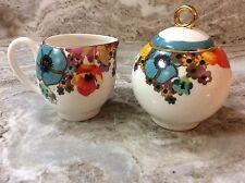 Grace's Teaware Creamer And Sugar Bowl. Colorful Floral Design. Beautiful. New.