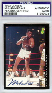Muhammad Ali Authentic Autographed Signed 1992 Classic Card PSA/DNA 81989023
