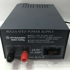 Pyramid Gold Series Model PS-4K Regulated Power Supply Output 13.8V DC