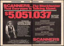 SCANNERS__Original 1981 Trade AD / poster / box office promo__DAVID CRONENBERG