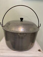 Vintage 12 Qt Majestic Cookware Aluminum Metal Pot with Lid Stock Pot Dutch Oven