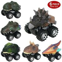 Pull Back Dinosaur Cars 6 Pack Mini Dino Cars Dinosaur Vehicle Kids Toys Gift