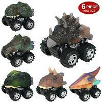 Pull Back Dinosaur Cars 6 Pack Mini Dino Cars Dinosaur Vehicle Kids Toys Gift