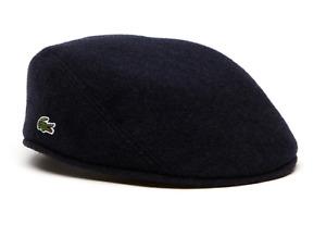 LACOSTE WOOL BROADCLOTH FLAT CAP, RK9814-166, Navy, M