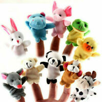 Baby Kids Educational Hand Toy Family Finger Cloth Plush Doll Story Gifts BUS