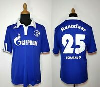 FC Schalke 04 Huntelaar Trikot L Blau Adidas 2010-11 Gazprom #25 Heim Shirt Kit
