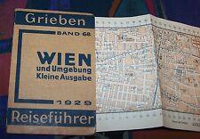 WIEN und Umgebung - kleine Ausgabe # 1929 Grieben Reiseführer 68