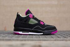 Nike Air Jordan 4 GS Black Neon Pink Size 4Y