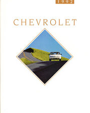 1992 Chevrolet 104-page Brochure Catalog - Camaro Caprice Cavalier Z24 RS LTZ