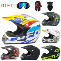 Motorcycle Helmet Motocross Off Road Helmet MTB ATV Dirt Bike Helmets +3Pcs Gift