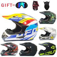 Motorcycle Helmet Motocross Off Road Helmet MTB ATV Dirt Bike Helmets +3Pcs Gift
