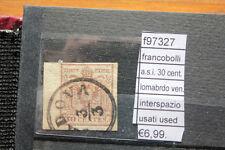 FRANCOBOLLI ASI 30 INTERSPAZIO CENT LOMBARDO VENETO  USATI (F97327)