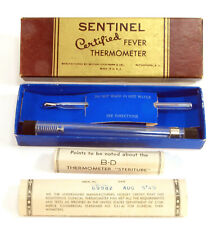 """New listing Vintage Rectal Thermometer B-D Sentinel w/ """"Steritube"""" Aug 5 1949"""