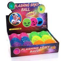 NEW 12PCS BOX OF FLASHING LIGHT-UP BALLS STRESS BALL SOFT SPIKY RUBBER BALLS