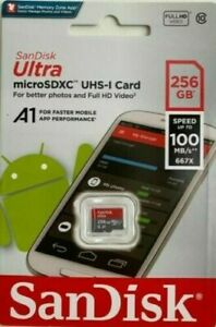 NEW SanDisk ULTRA 256GB Micro SDXC  Class 10 100MB/S 667X pictures Full HD Video